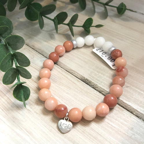 Peach Semi-Precious Stone Bracelet