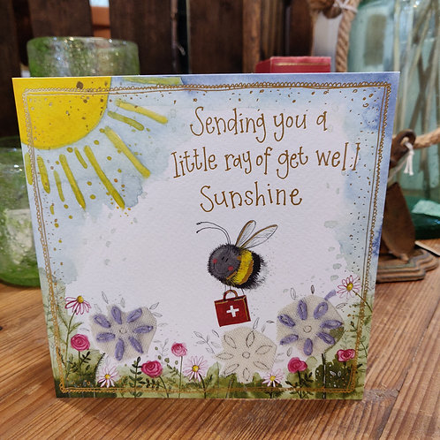 Occasions Greeting Card Alex Clark Get Well Bee