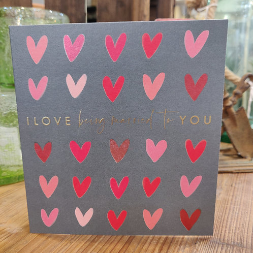 Think of Me Valentines Day Card Married to You