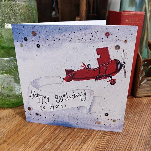Happy Birthday Greeting Card Alex Clark Plane