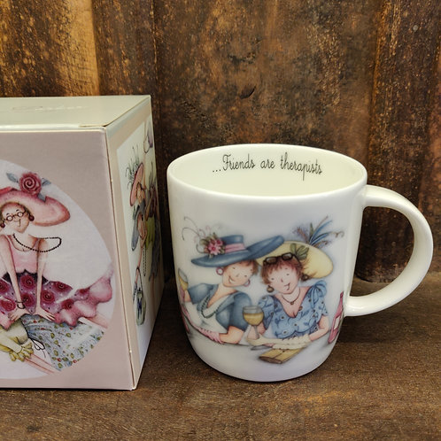 Berni Parker Mug Friends Are Therapists That You Can Drink With Front
