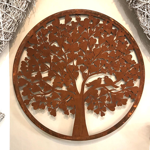 Stunning Heart Tree Metal Garden Wall Art