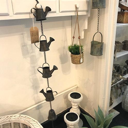 Watering Can Rain Chain Garden Gardening Gift Shop Hinckley