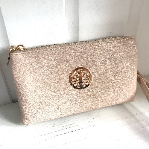 Nude Clutch Bag Side View