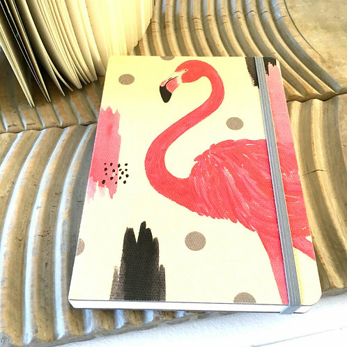 Polkadot Pink Flamingo Notebook Stationery
