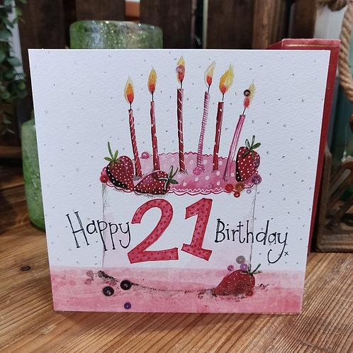 Age Birthday Greeting Card Alex Clark 21