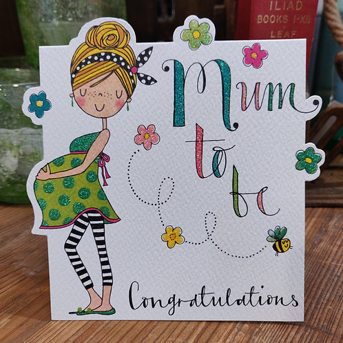 Rachel Ellen Greeting Card Mum To Be