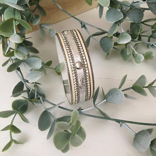 Silver Snake Wrap Bracelet