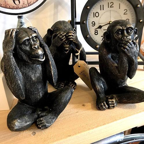 Set of Three Wise Monkeys