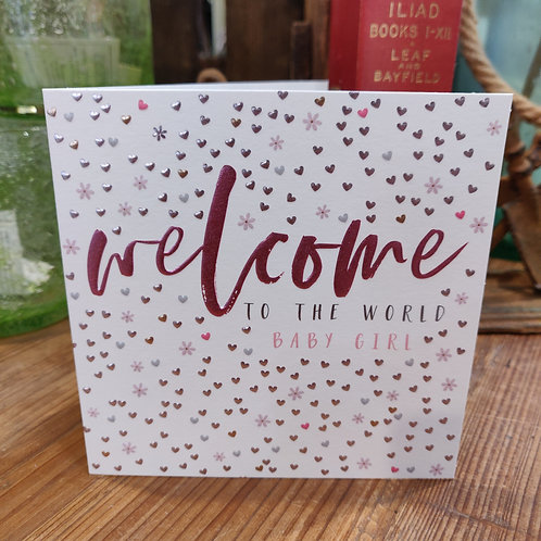 Belly Button Greeting Card Welcome Baby Girl