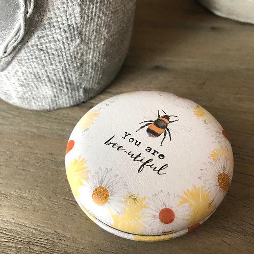 You are bee-utiful compact mirror