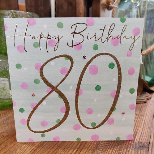 Janie Wilson Greeting Card Birthday Age 80