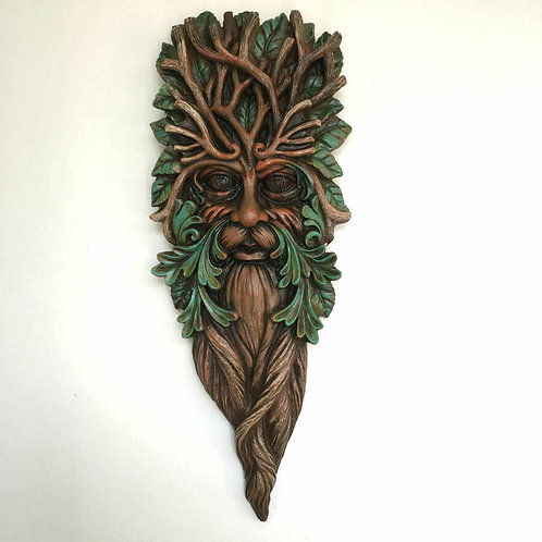 Gerald the Green Man Wall Plaque Garden Gift Man of the Woods