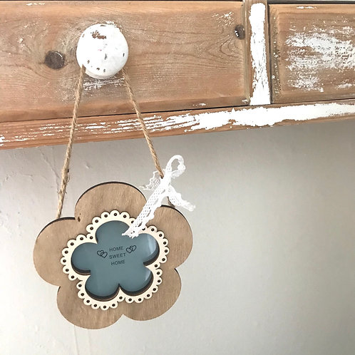 Wooden Hanging Flower Frame