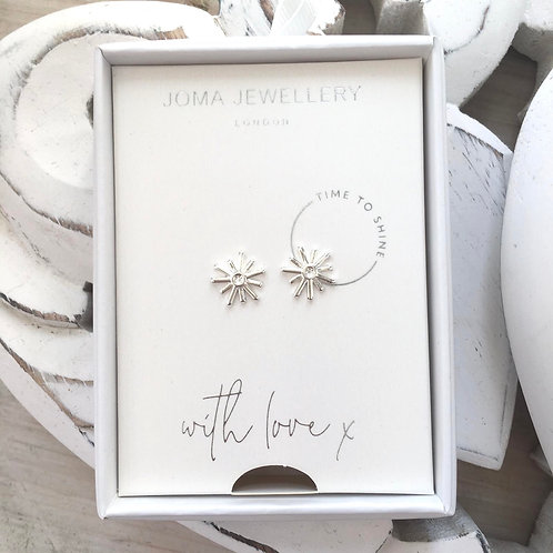 Time to Shine Joma Jewellery Silver Starburst Earrings