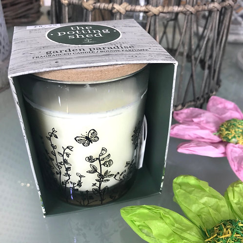 Garden Paradise Potting Shed Candle Garden Gardening Gift Shop Hinckley