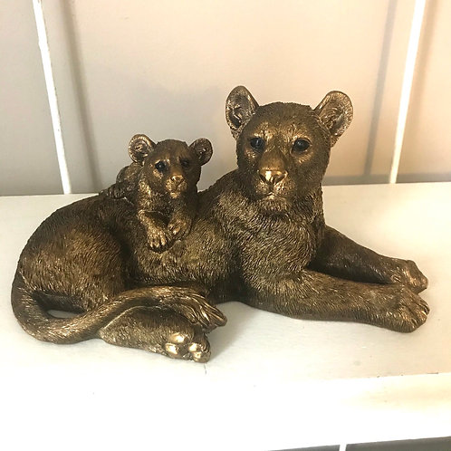 Lioness and Cub Ornament