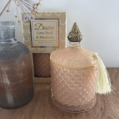 Lime Basil and Mandarin Scented Candle Gift Shop Hinckley