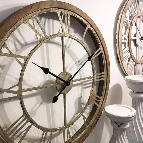 Wood Surround Cut Out Skeleton Clock Home Decor Interior Design