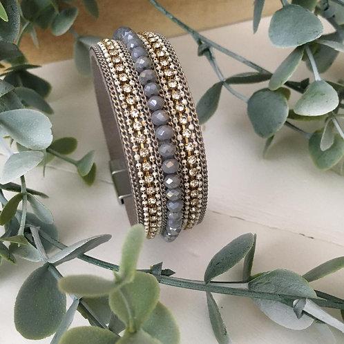 Dusty Lilac Stone Wrap Bracelet