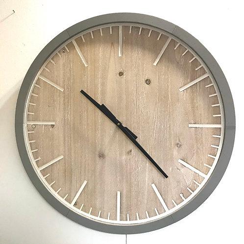 Gorgeous Grey Edge Clock