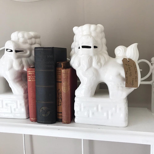 Pair of Ceramic Foo Dogs