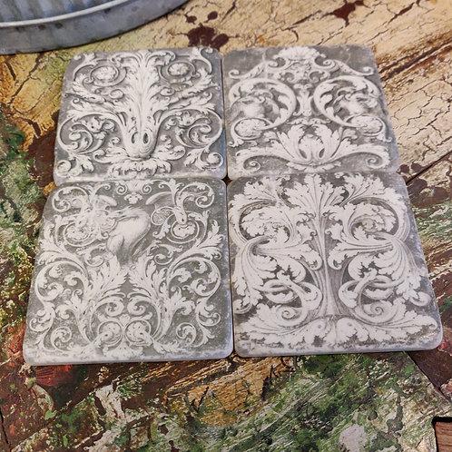 Grey Grecian Coasters