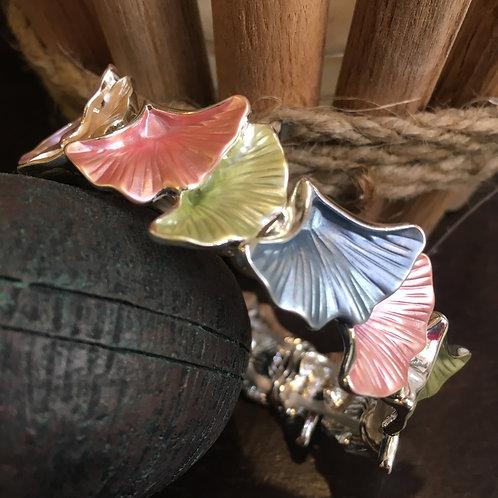 Multi-Coloured Ginkgo Leaf Bracelet