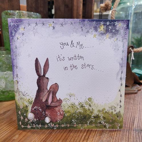 Alex Clark Valentines Day Card Rabbits