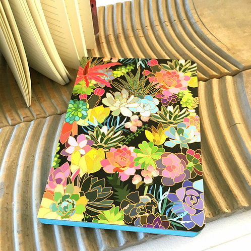 Succulent Paradise Notebook Stationery Plant