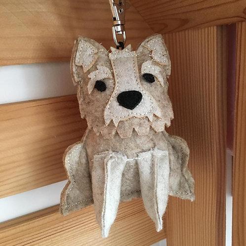 Dora Lewis Westie Key Ring Dog Cute Gift Felt Scotland