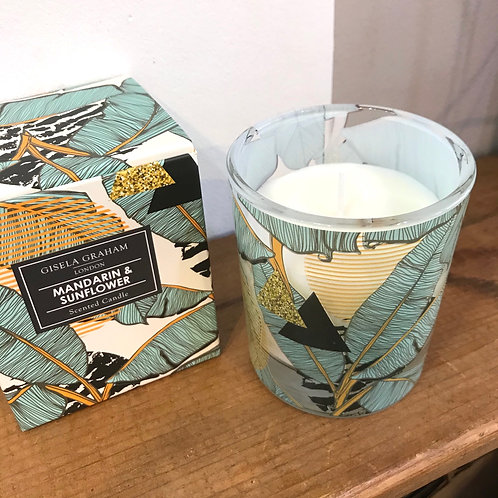 Mandarin and Sunflower Scented Candle