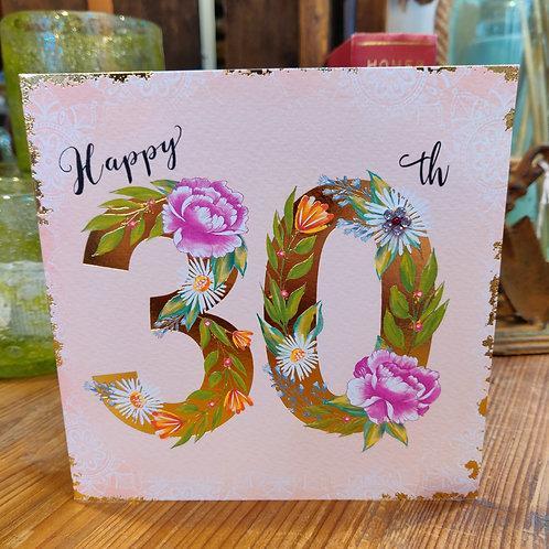 Rachel Ellen Greeting Card Birthday Age 30