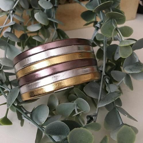 Gold Stripe Wrap Bracelet