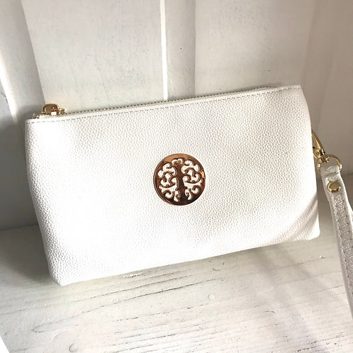 White Clutch Bag Front View