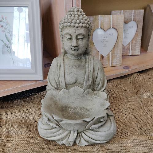 Tea Light Buddha Stoneware Garden