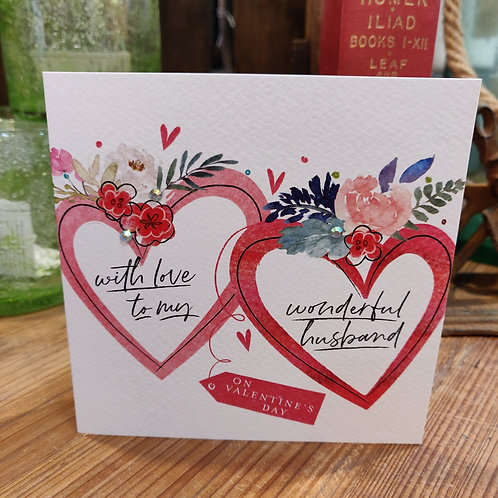Valentine's Day Greeting Card Katie Phythian Love Husband