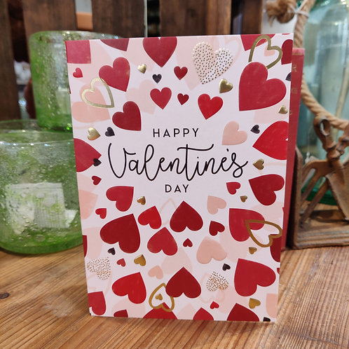 Valentine's Day Greeting Card Blue Eyed Sun Heart