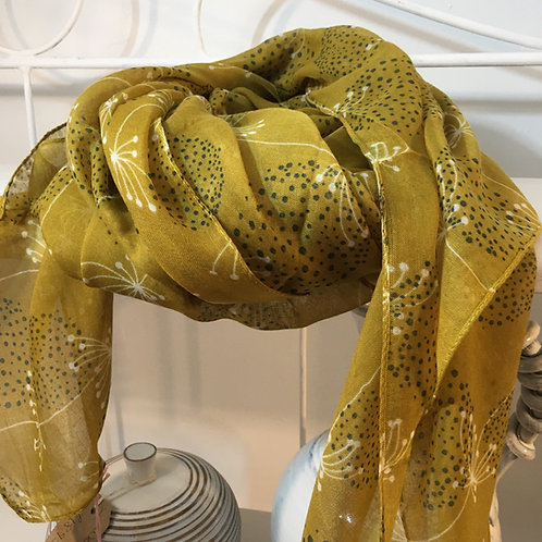 Retro dandelion scarf