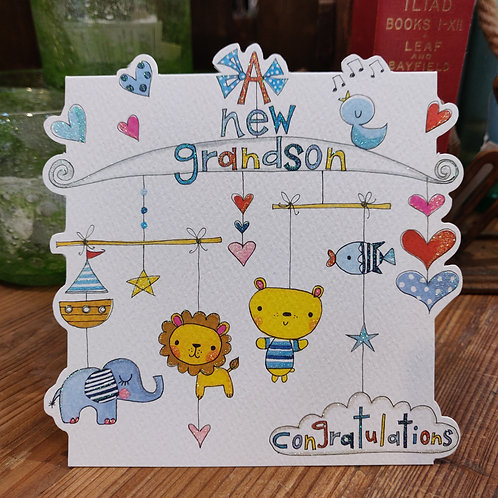 Rachel Ellen Greeting Card Grandson