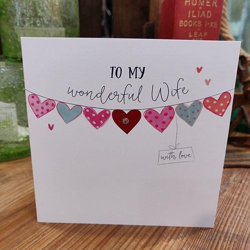 Valentine's Day Greeting Card Katie Phythian Wonderful Wife