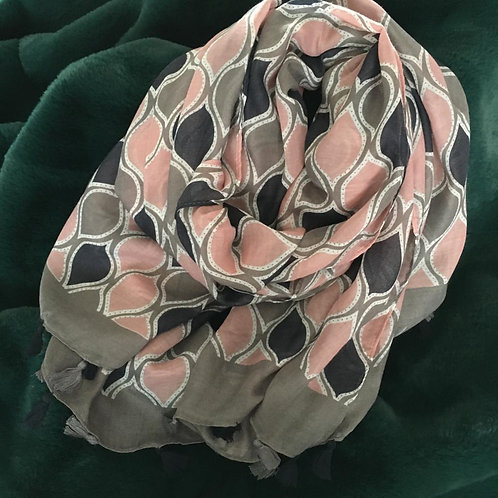 Charcoal Moroccan Scarf