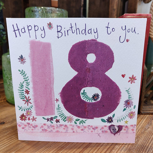 Age Birthday Greeting Card Alex Clark 18