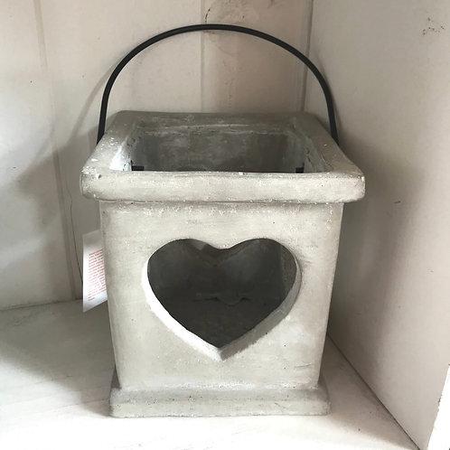 Concrete Heart Lantern