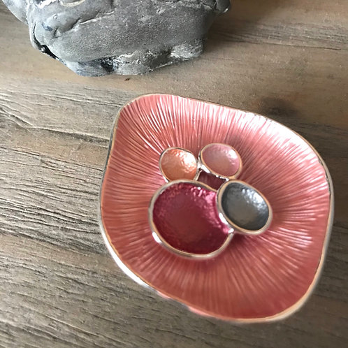 Lovely Lily Pad Pink Brooch