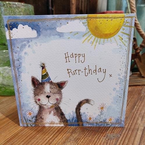 Happy Birthday Greeting Card Alex Clark Cat