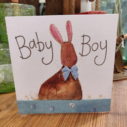 New Baby Birthday Greeting Card Alex Clark Boy