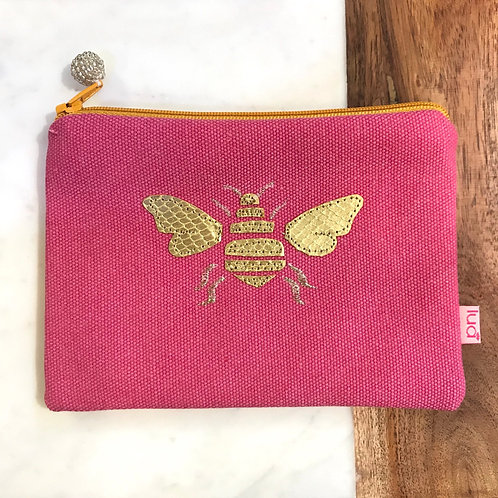 Pink Bee Cosmetic Purse