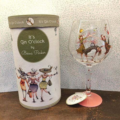 Berni Parker Gin Glass Ladies We Are Gin-Tastic Front