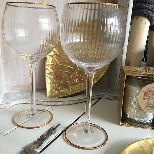 Vintage Style Gin Glasses